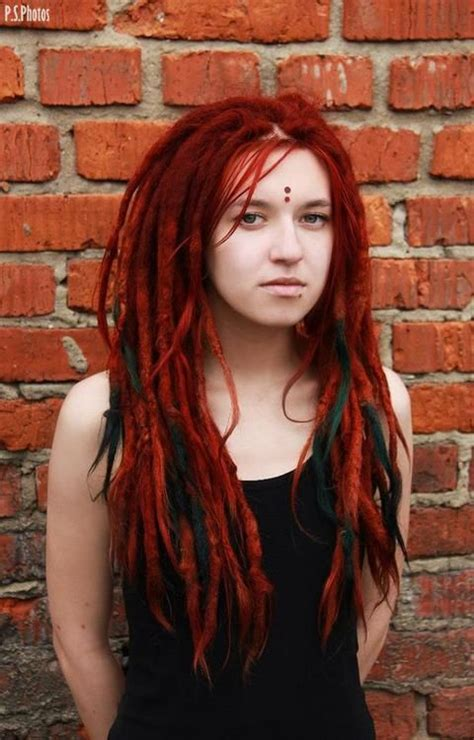 red dreadlocks red dreads and bindis dread love pinterest third eye