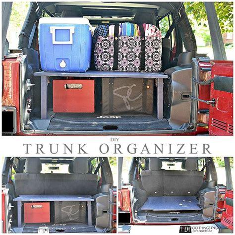 ideas  trunk organization  pinterest car trunk organizer car storage  care