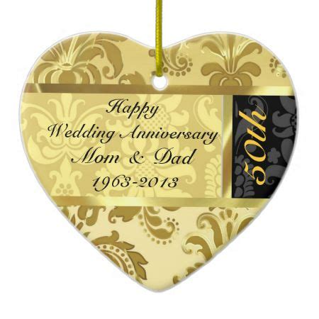 wedding anniversary ornaments black gold 50th wedding anniversary ornament