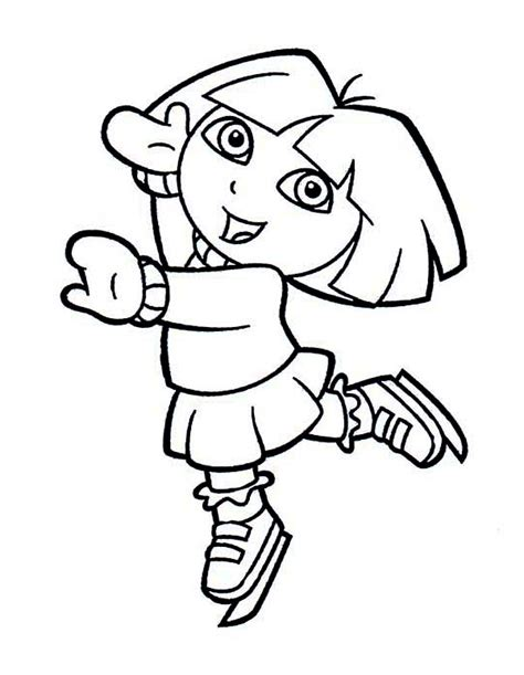 dora winter coloring pages playing coloring sheet winter pages for kids crafty