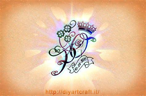 lettere alfabetiche stilizzate 10 acronimi unisex con simboli evocativi diyartcraft