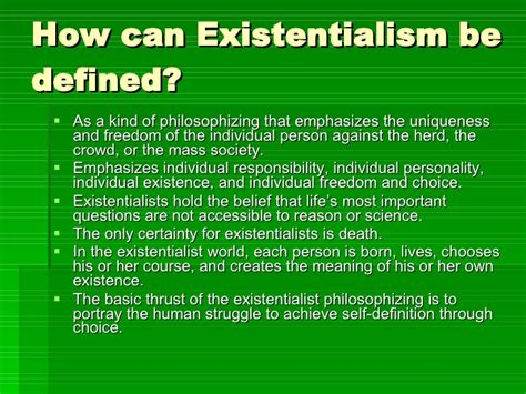 Essays On Existentialism by Essay On Sartre
