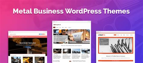 wordpress themes free or paid 5 metal business wordpress themes free and paid formget