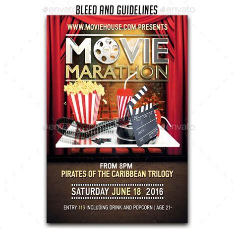 17 movie flyers psd vector eps