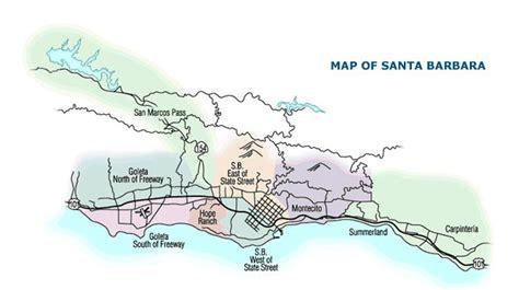 santa barbara map santa barbara maps williams real estate