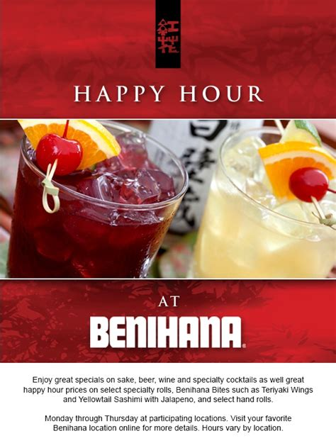 Happy Hour Project 3000 Syrah by 8 Best Images About Benihana Promotions Events On