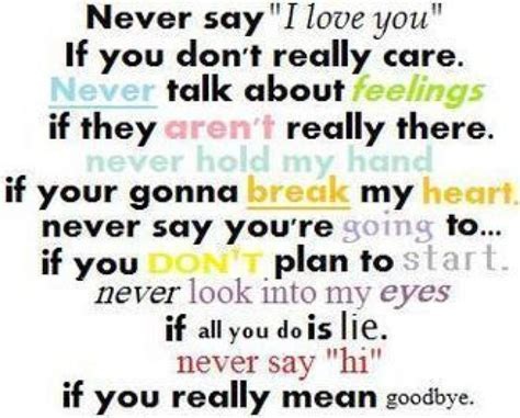 is it mad i don t really care never say i love you if you don t really care