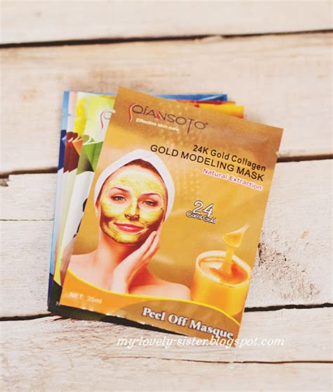 Masker Qiansoto Gold my lovely a with monday s