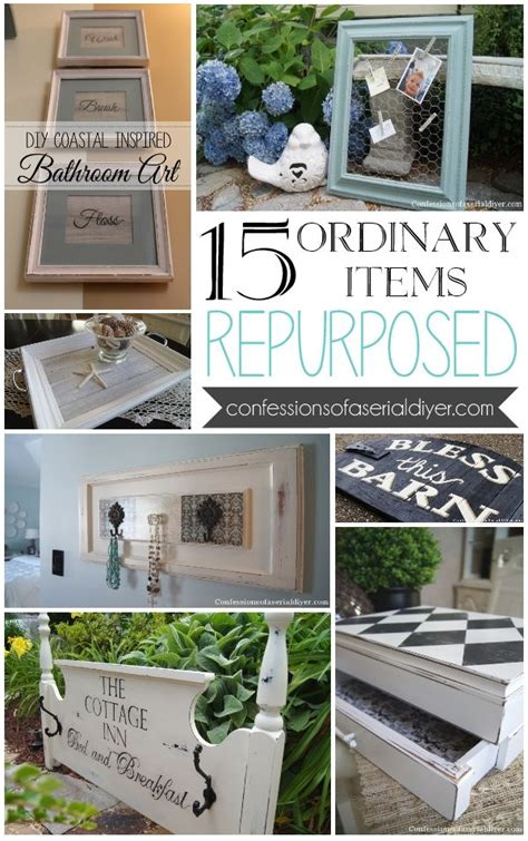 repurposed home decorating ideas 15 ordinary items repurposed crafty pinterest