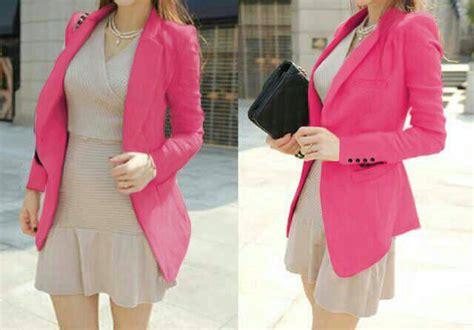 Blazer Twiscone baju blazer pink cantik modern model terbaru murah