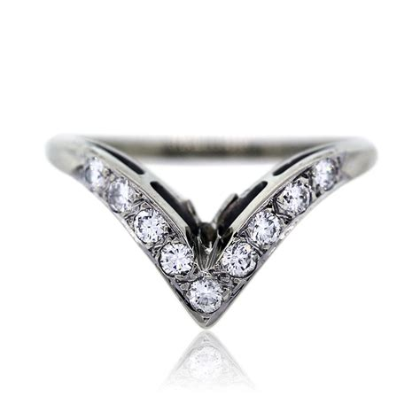 18k white gold pave engagement ring wedding band set