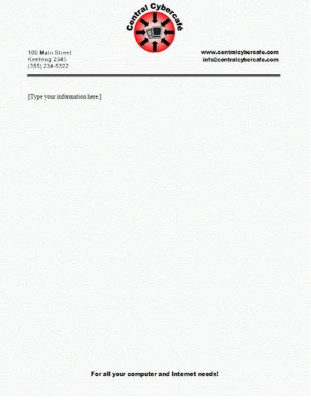 letterhead template with logo best 25 company letterhead exles ideas on