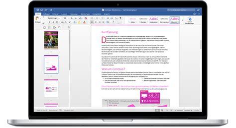 Word Design Vorlagen Mac das neue office 2016 f 252 r mac mit optimierten funktionen