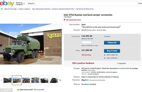 ebay reserve not met monster truck used by russians in the cold war transformed