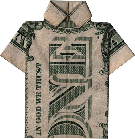 T Shirt Dollar Bill Origami - origami doodlecraft origami money folding shirt and tie