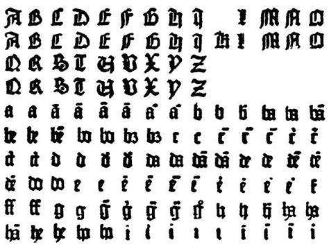 letras goticas free coloring pages of de letras goticas