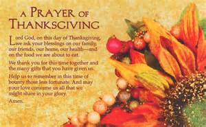 general thanksgiving prayers like success
