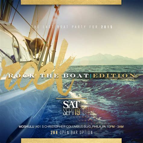 party boat ending rock the boat 2015 summer season ending event 10p 3am