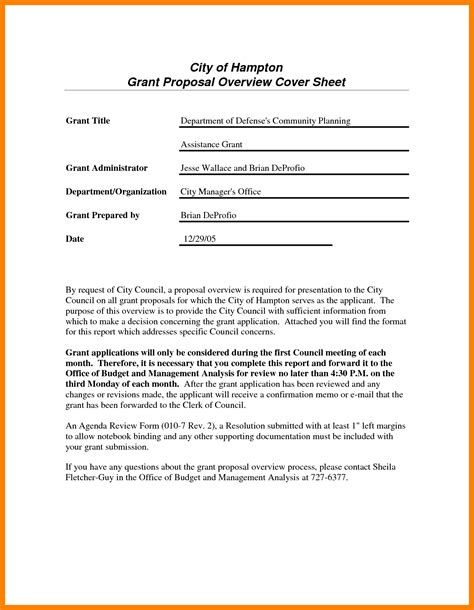 cover letter for grant application exles grant application sle cover letter sles cover
