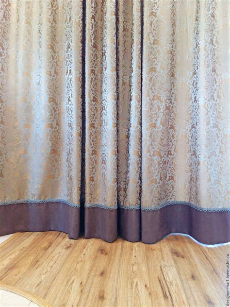 curtain edging the curtains in the house for living room with brown
