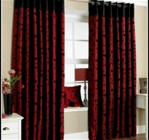 bedroom with red curtains stunning black and red curtains for modern touch atzine com