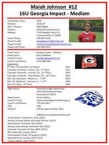 Softball Player Profile Template by Impact Medlam