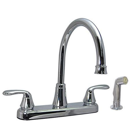 Air In Kitchen Faucet 174 Chrome Two Handle Hi Arc Kitchen Faucet W Side