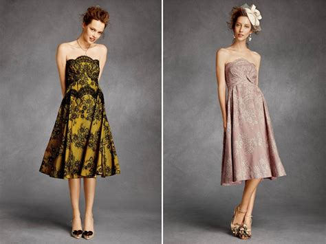 Bridesmaid Dress Patterns With Lace - strapless knee length bhldn bridesmaids dresses with lace