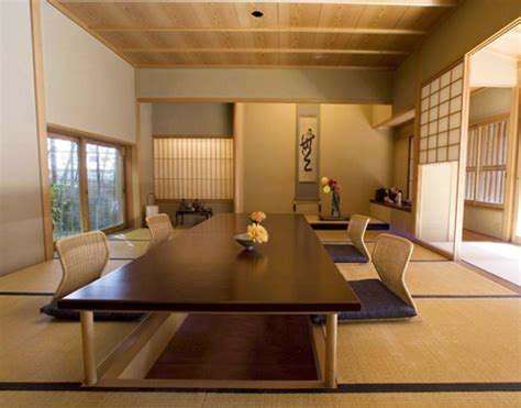 japanese dining room furniture natural modern interiors no shoe policy in japan the