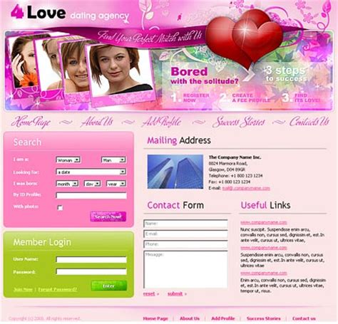 dating agency website template best website templates