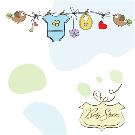 template baby shower vector baby shower card template vector free download