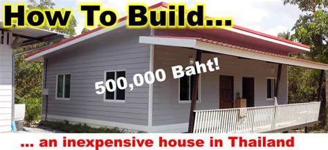 Building a house in Thailand, cost of