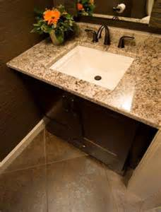 Granite countertop with bathroom sink haberl tile and stone
