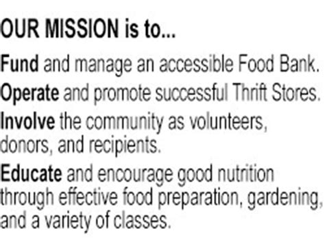 Food Pantry Mission Statement by Good Cheer Food Bank Amp Thrift Stores Creating A Hunger