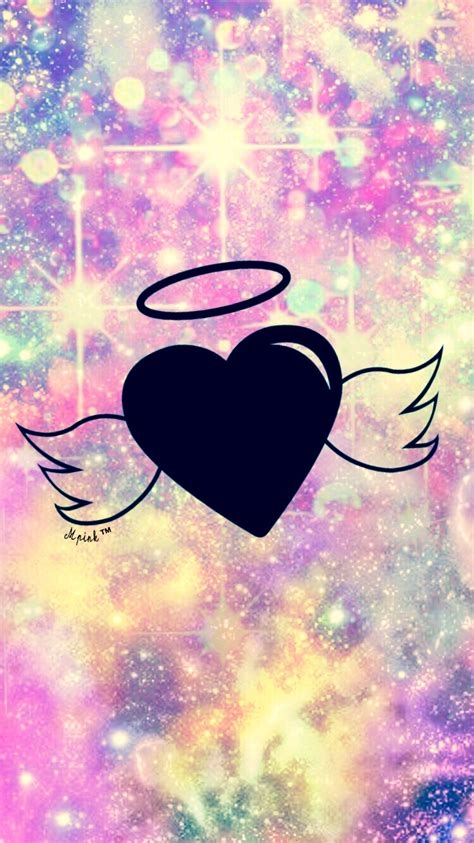 girly black wallpaper bokeh angel wings wallpaper lockscreen girly cute