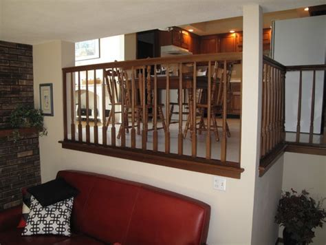 bi level home decorating ideas how to best deal with prominent railings in split level home