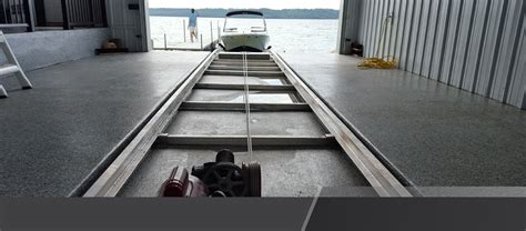 boat launch rails roll a rail hewitt
