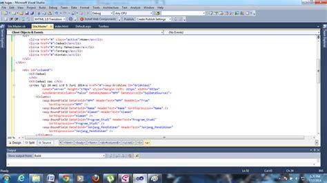 membuat website menggunakan visual studio adont ramadhon blog