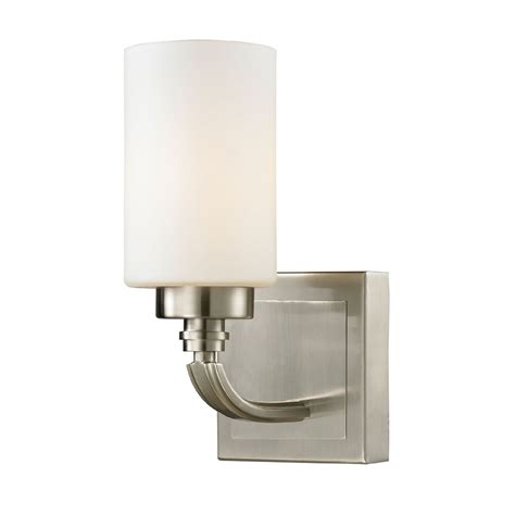 Elk Bathroom Lighting Elk 11660 1 Dawson Brushed Nickel Wall Light Sconce Elk 11660 1