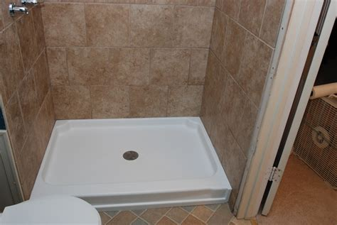 shower base 54 shower base from fiberglass useful reviews of shower