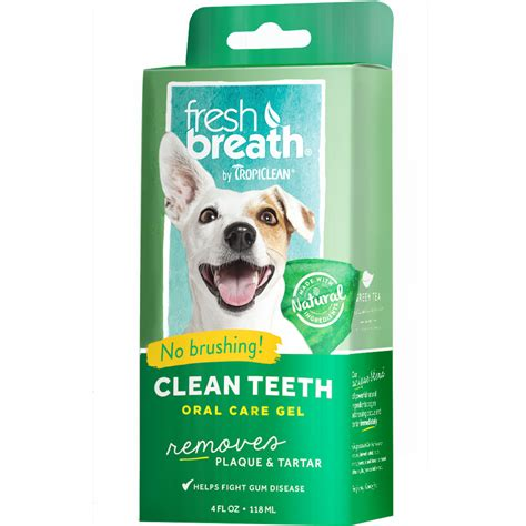puppy teething gel tropiclean fresh breath clean teeth gel 4 fl oz