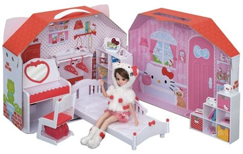 hello kitty doll house toys r us japan trend shop licca chan hello kitty daisuki room