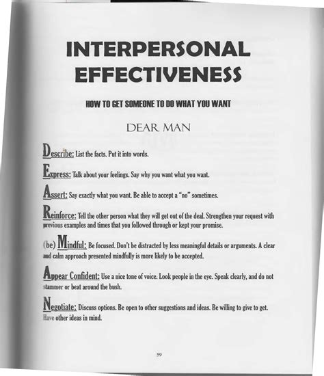 Dialectical Behavior Therapy Worksheets by The Of Dialectical Behavior Therapy Interpersonal