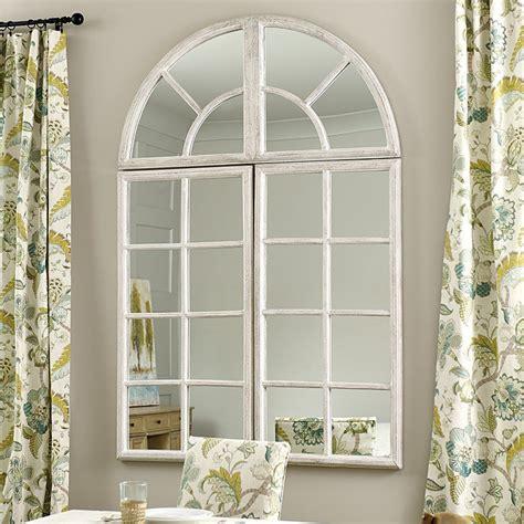 Ideas Design For Arched Window Mirror Grand Chateau Window Mirror Ballard Designs