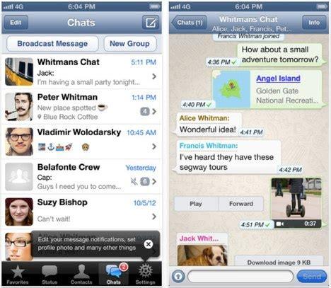 Iphone 6 Günstig Ohne Vertrag 286 by Whatsapp Messenger Update Bringt Iphone 5 Und Ios 6