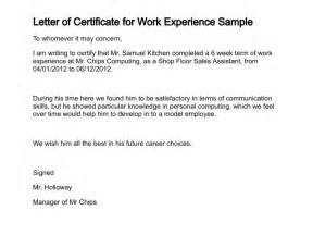 certification letter work work certificate sample new blog work experience certificate template microsoft word