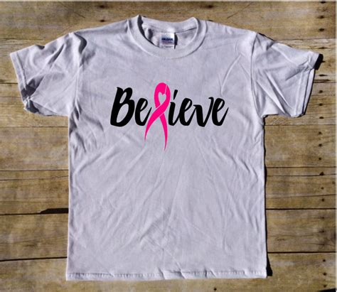 believe breast cancer awareness breast cancer t shirt