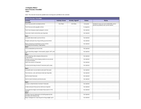 book layout checklist month end accounting checklist related best free