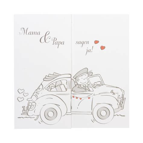 Hochzeitseinladung Comic by Lustige Comic Einladungskarte F 252 R Hochzeit Mit Limousine
