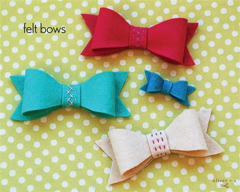 felt bow template felt bows a free pattern and tutorial oliver s
